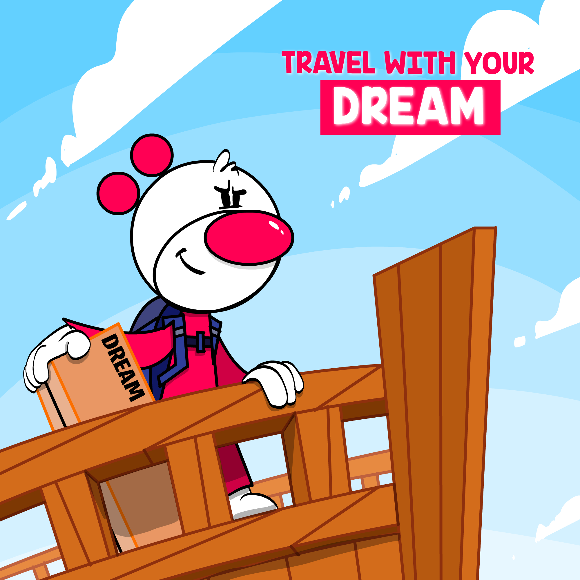 Piwooz is traveling with his dream